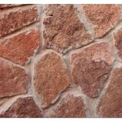 Piedra Rustica Roja 2/3 (Fila)